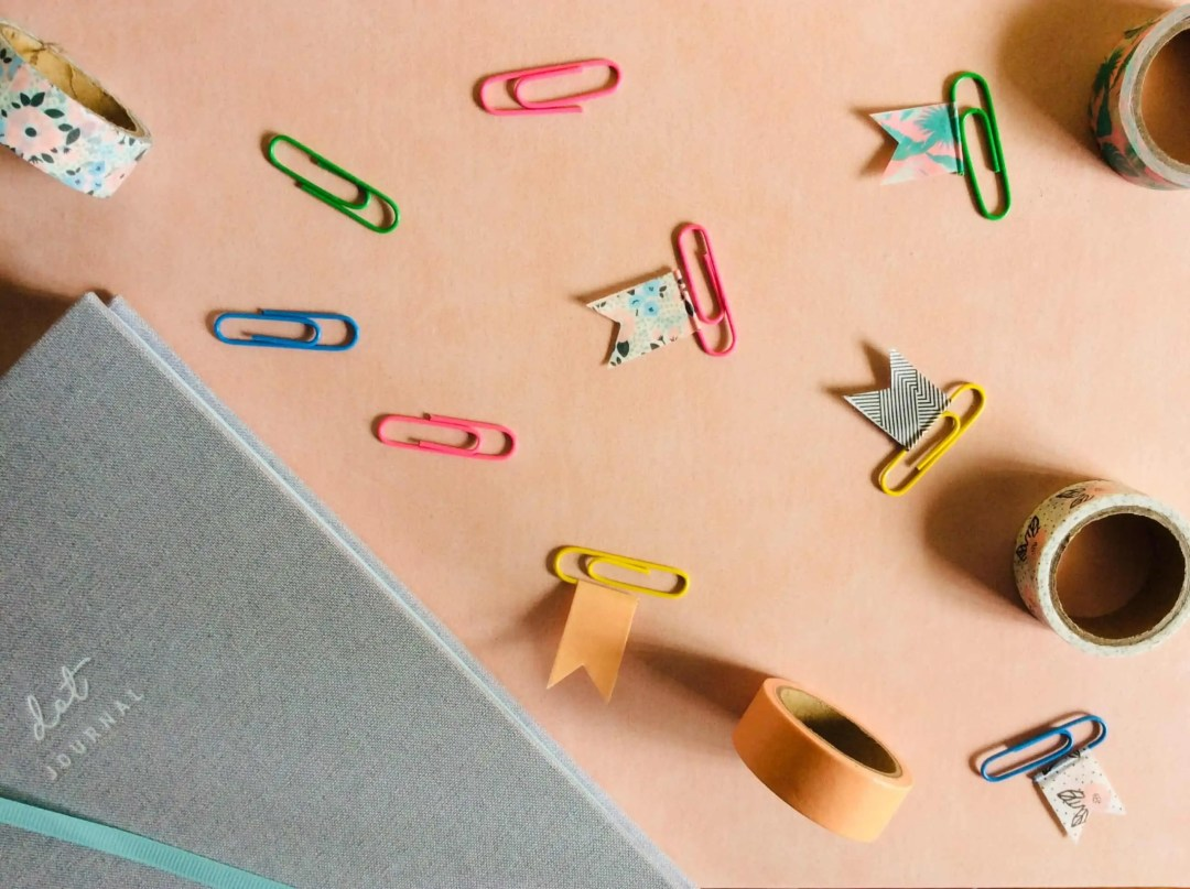 Washi Tape paperclip flags