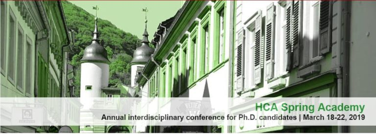 15/11/2019 – CFP: The Annual Spring Academy at the HCA