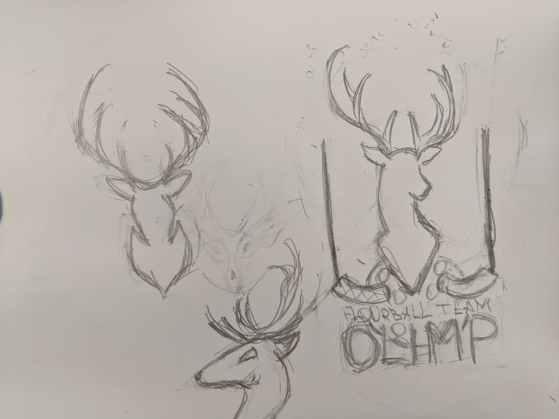 Идея для логотипа флорбольной команды Олимп