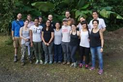 Group Leaving La Selva