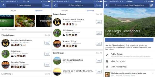 فيس بوك تختبر ميزة لعرض المجموعات حسب الاهتمام