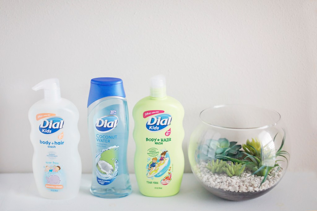 lineup of dial soaps