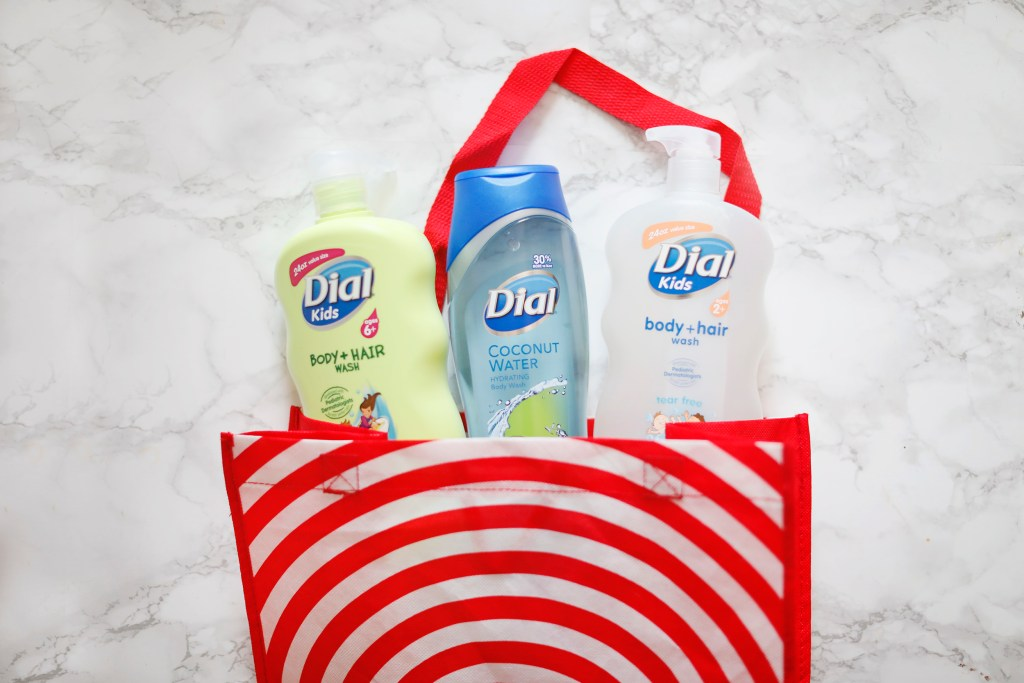 reusable target bag with dial soap