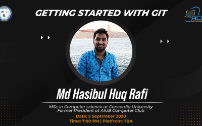 "AIUB Computer Club (ACC) Organized virtual workshop on  ""Getting Started with Git"""