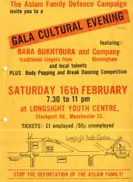 Asian Cultural Evening poster. The focus wasn't only on political resistance and struggle: the AYMs organised and supported many events that celebrated Asian arts, culture and sport. Courtesy Tandana Archive