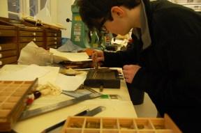 Hannah preparing her letters. Photo taken by Daniella Carrington.
