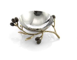 175119 Olive Branch Gold Nut Dish MED RES