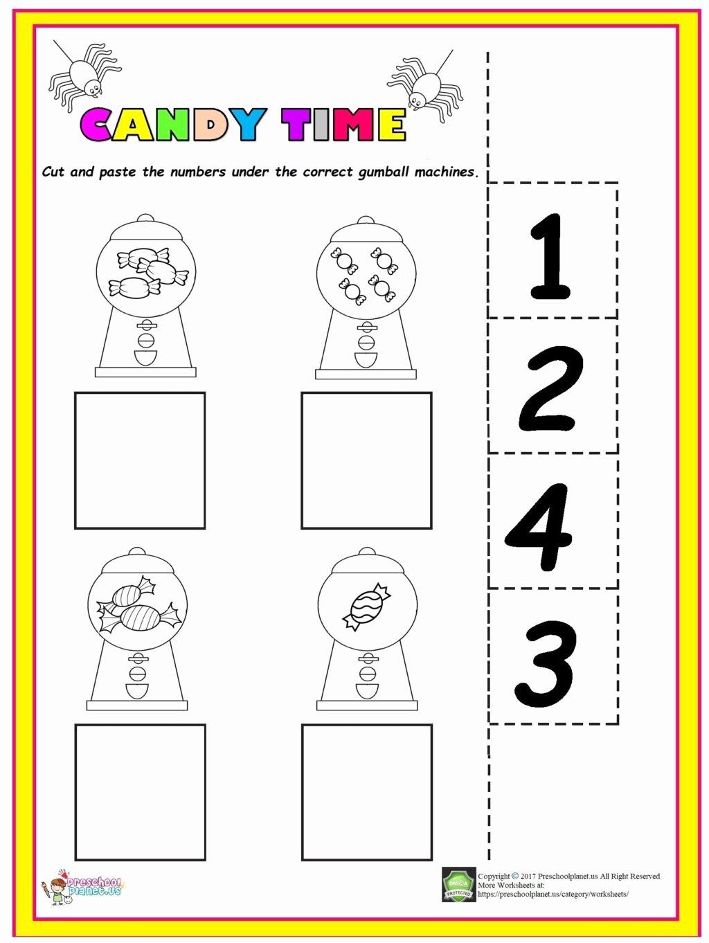 Easy Worksheets For Preschoolers