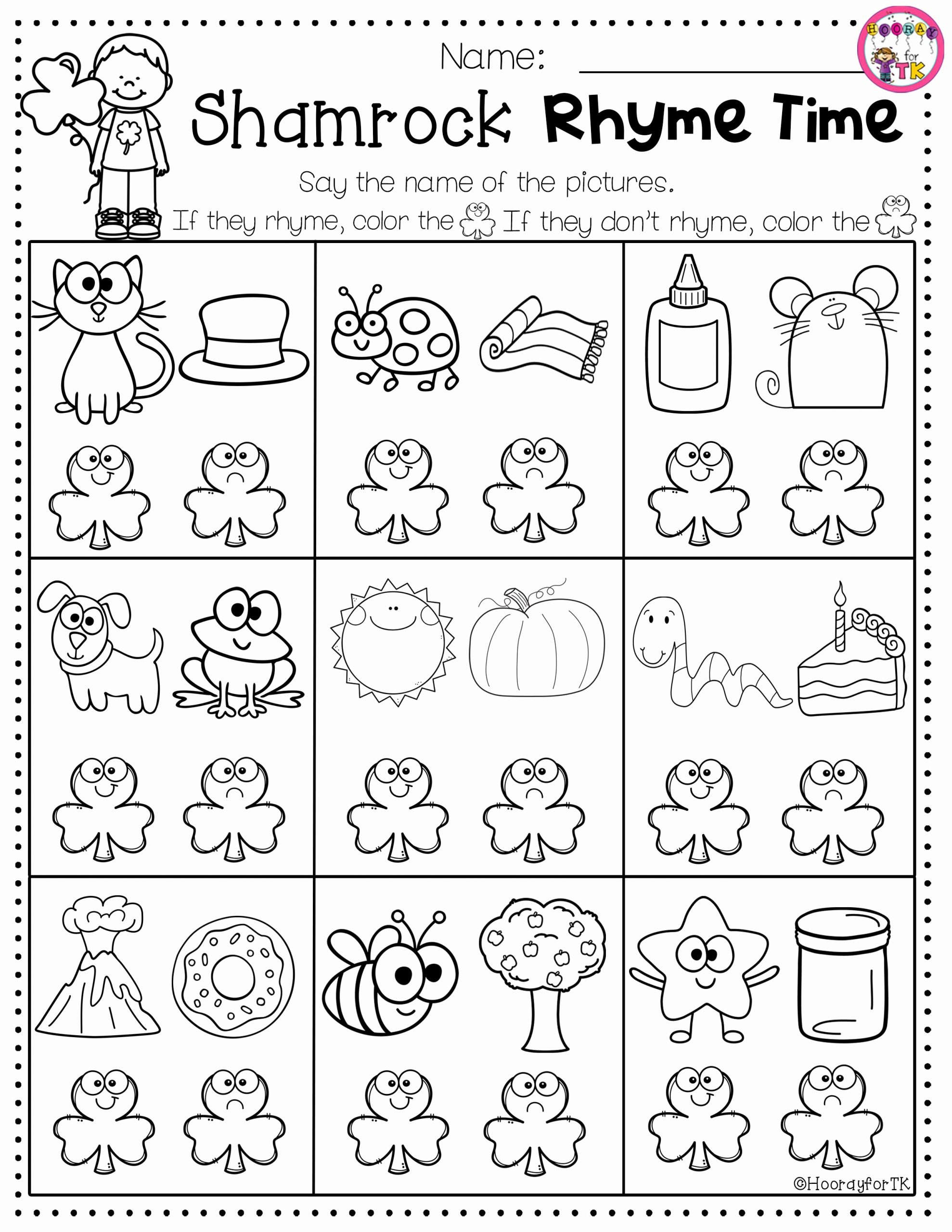 March Worksheets For Preschoolers