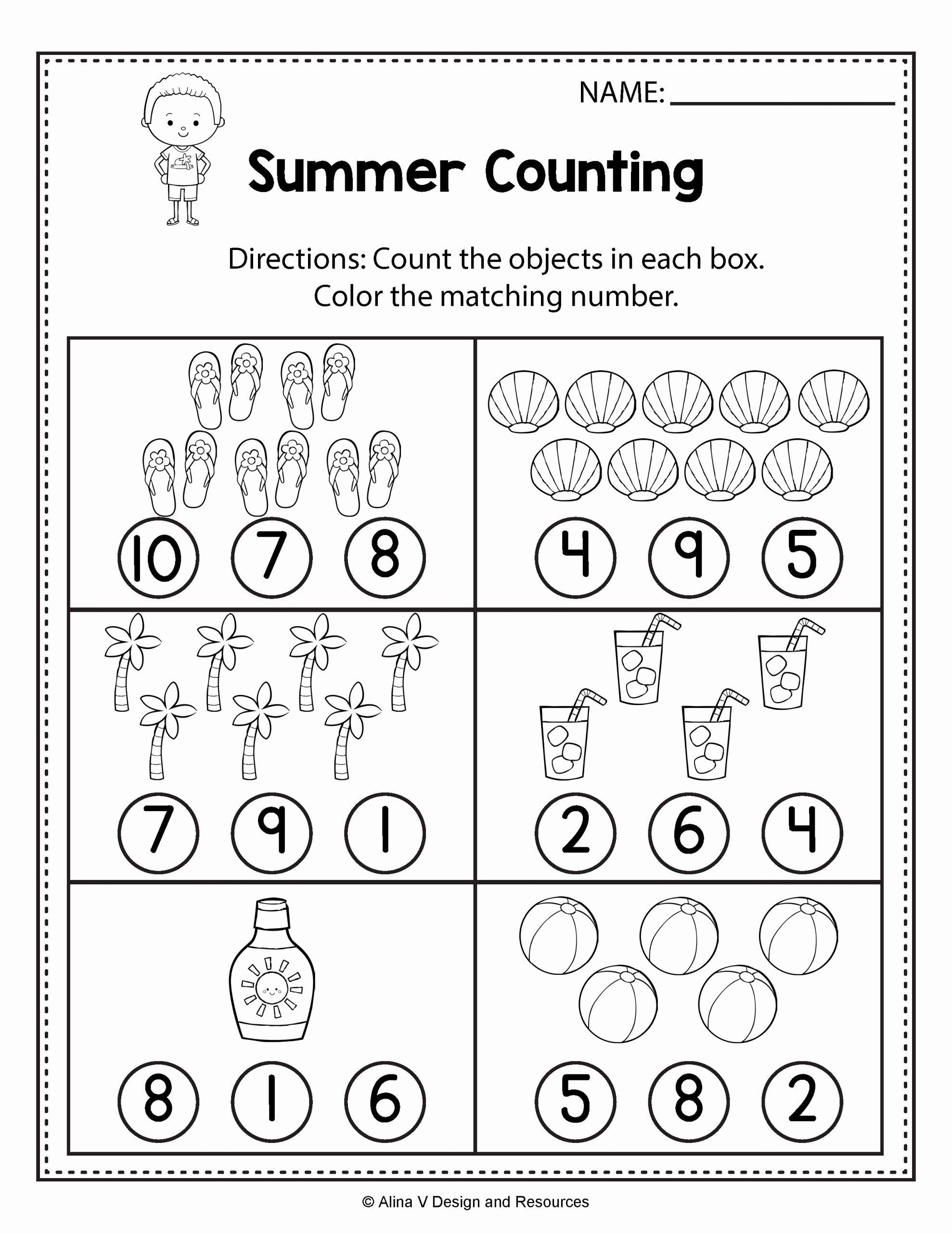 Math Printable Worksheets For Preschoolers