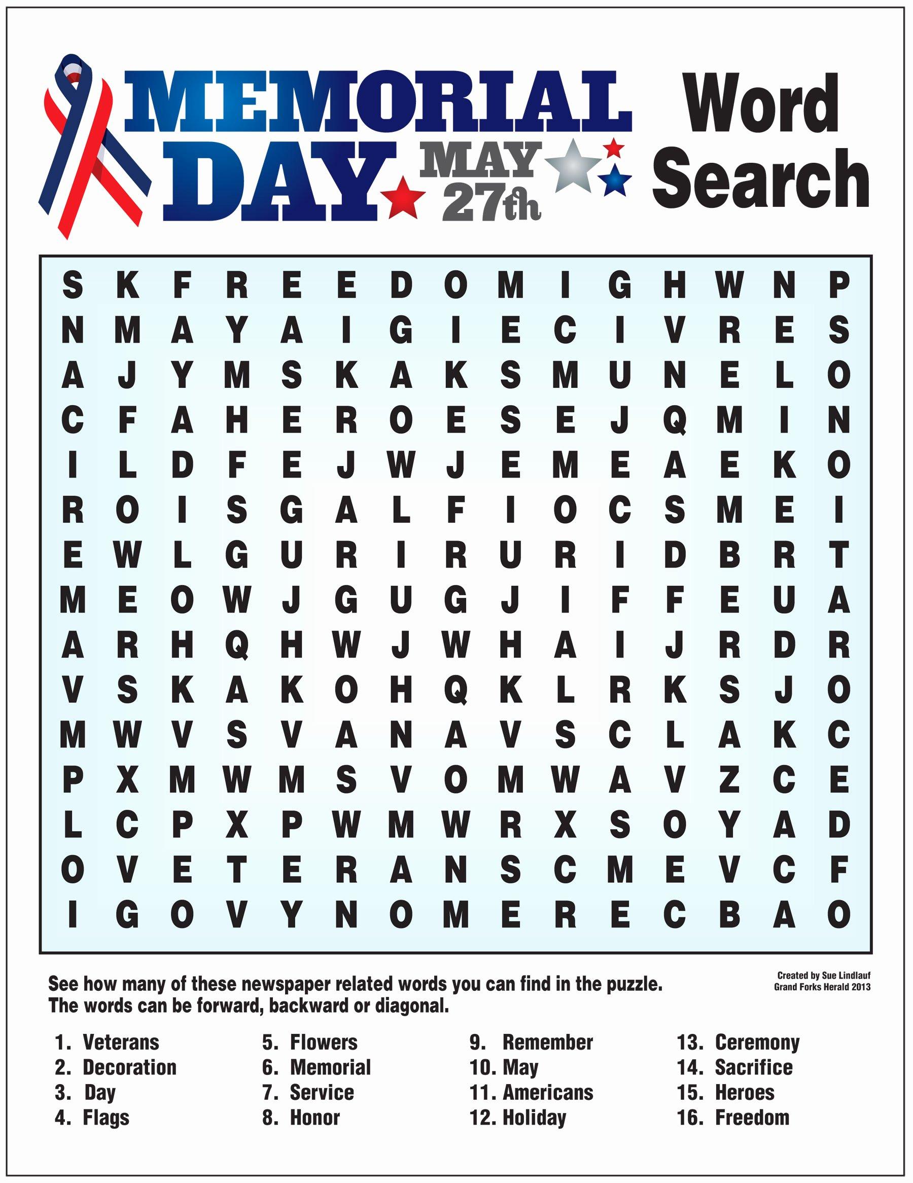 Memorial Day Worksheets For Preschoolers