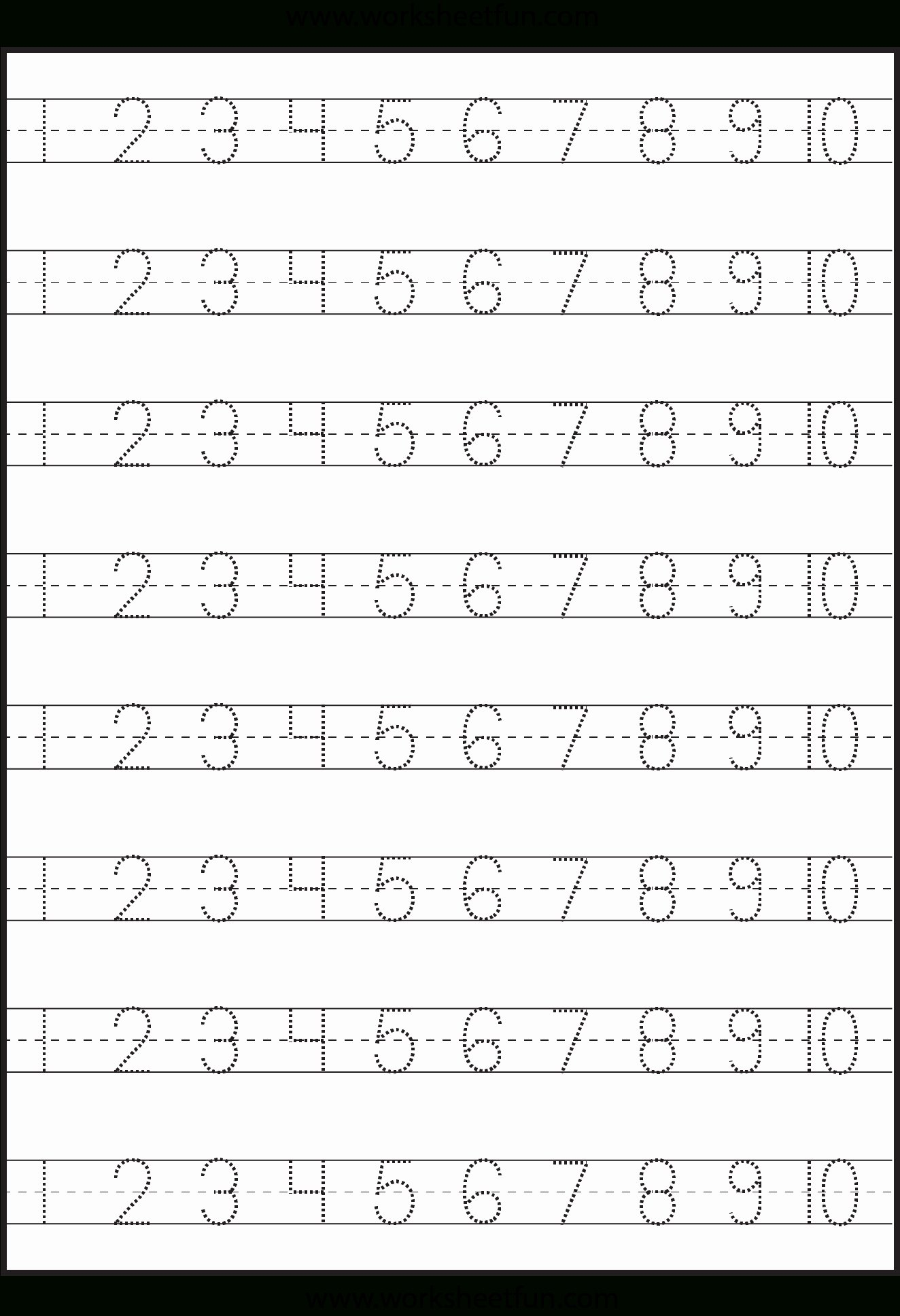 Number 10 Worksheets For Preschoolers