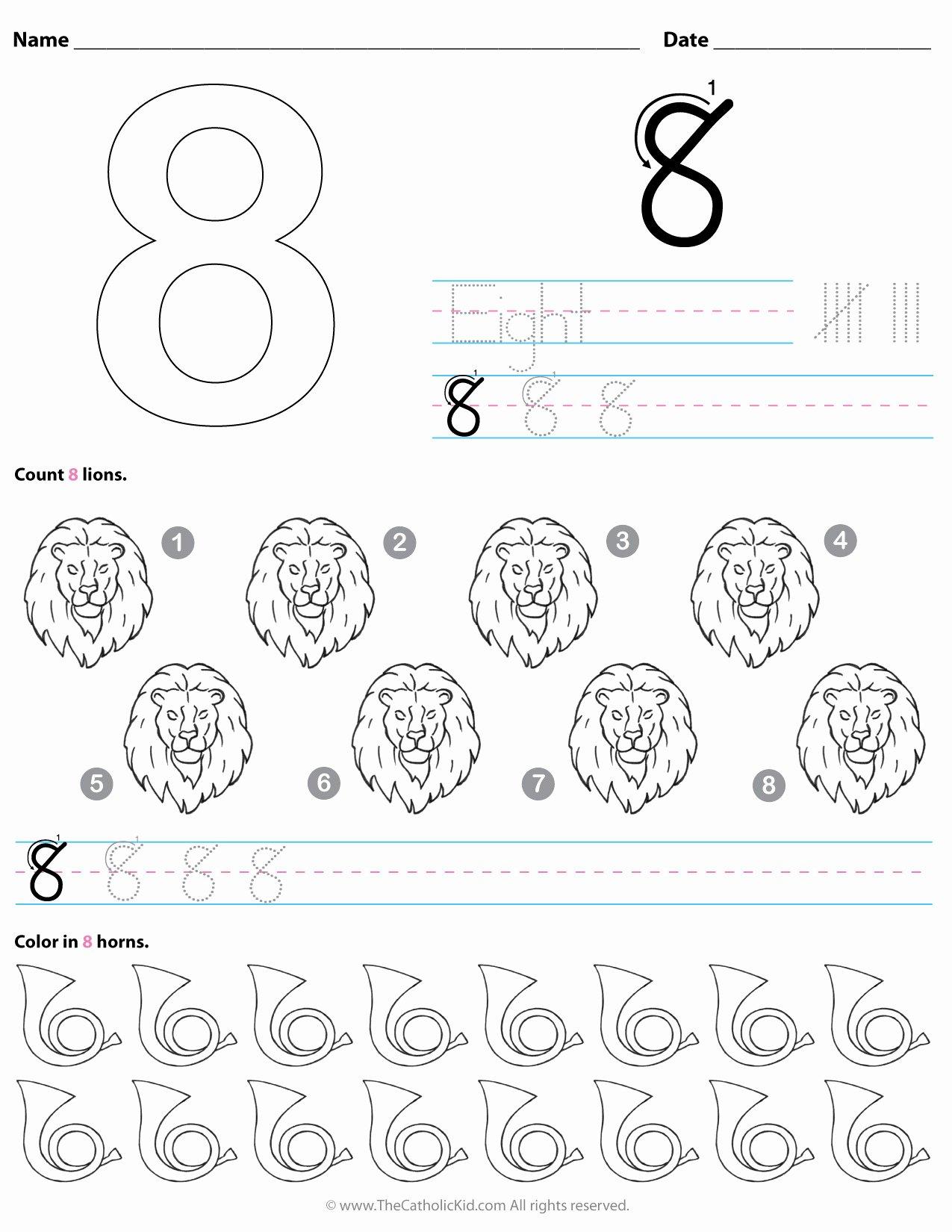 Number 8 Worksheets For Preschoolers
