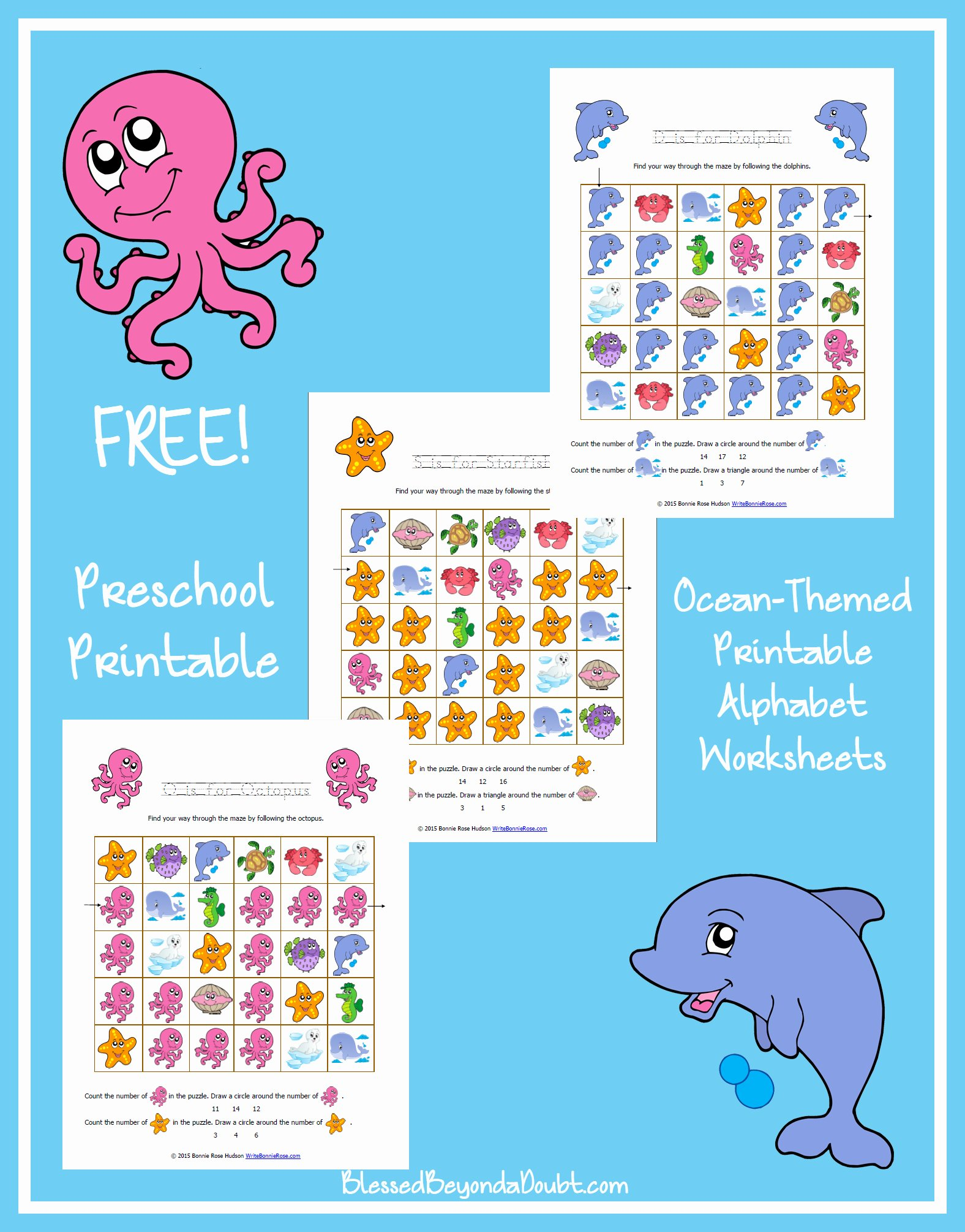 Ocean Themed Worksheets For Preschoolers