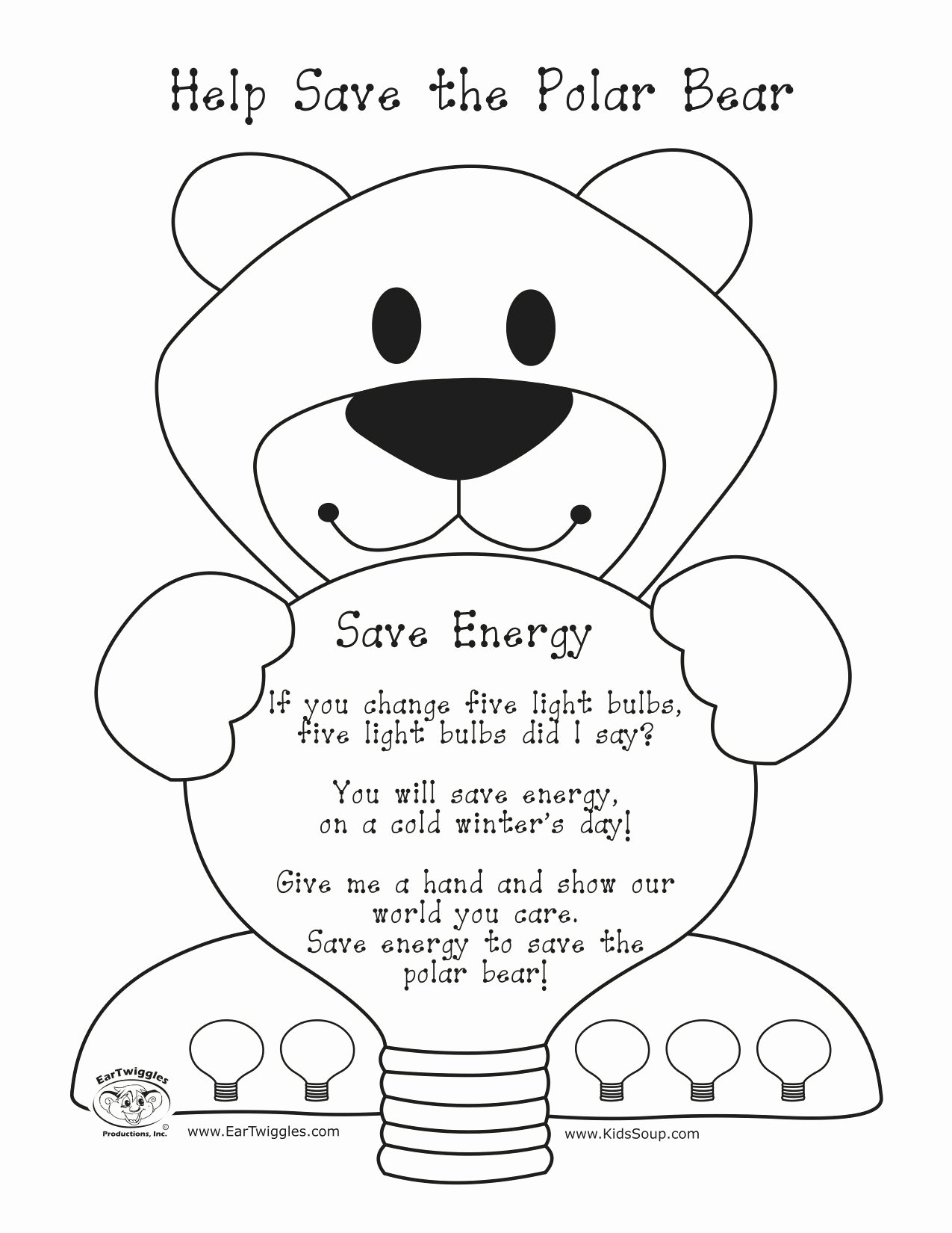 Polar Bear Worksheets For Preschoolers
