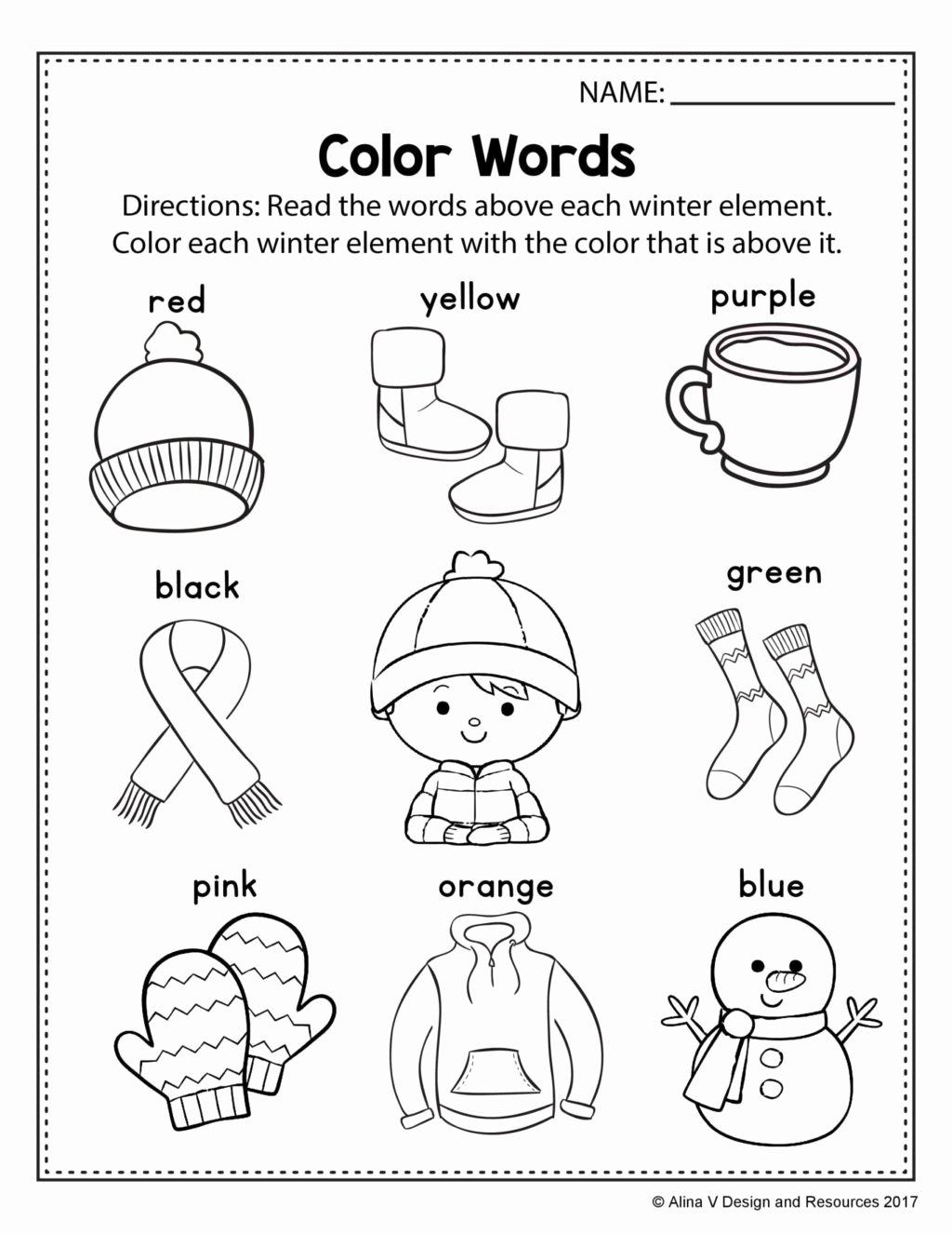The Color Blue Worksheets For Preschoolers