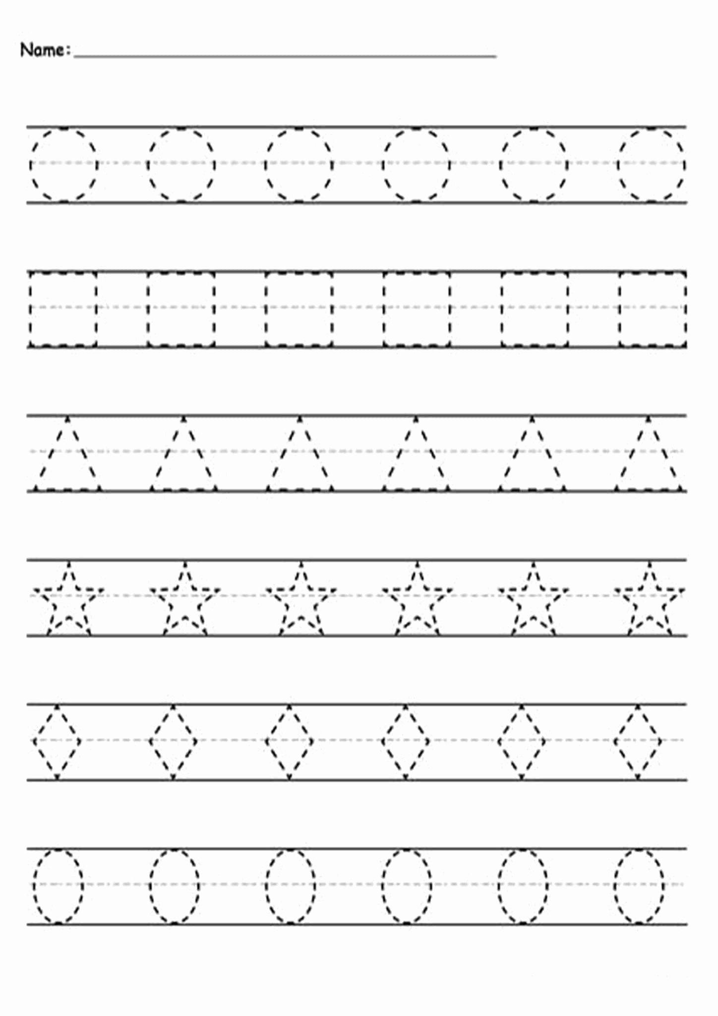 Tracing Lines Worksheets For Preschoolers