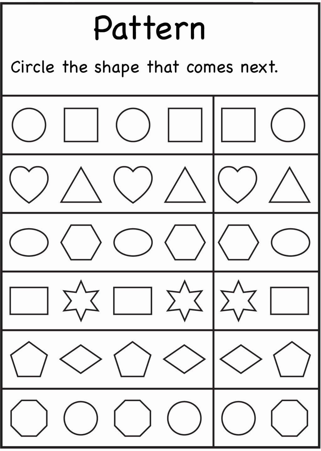 Worksheets For Preschoolers Math