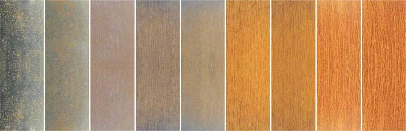 Mudança de cor da placa de aço resistente ao desgaste