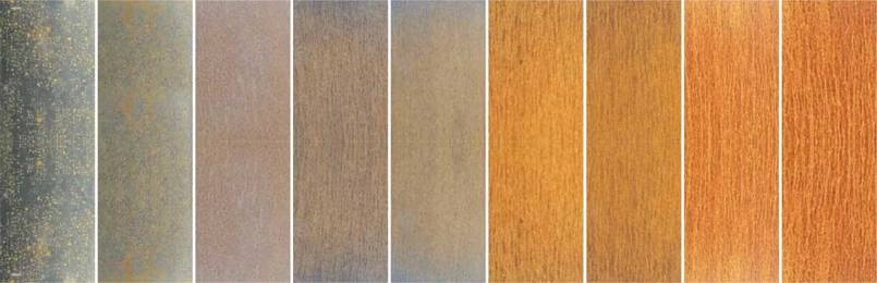 Color change of weathering steel plate