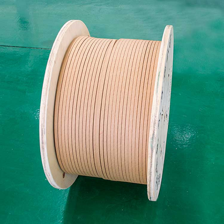 Paper-covered flat aluminum wire