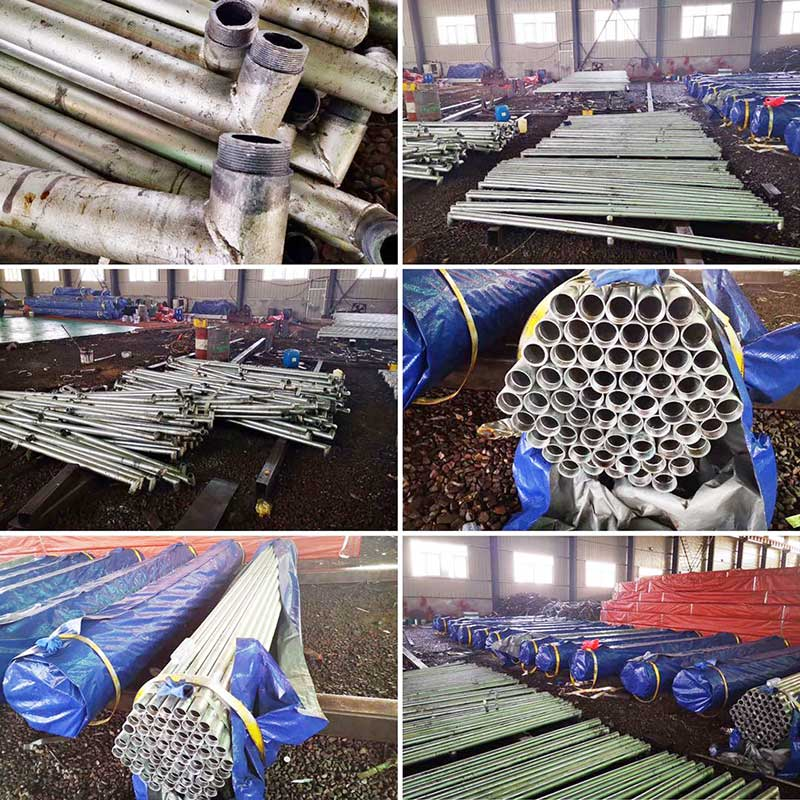 Galvanized steel pipe exported to the United States