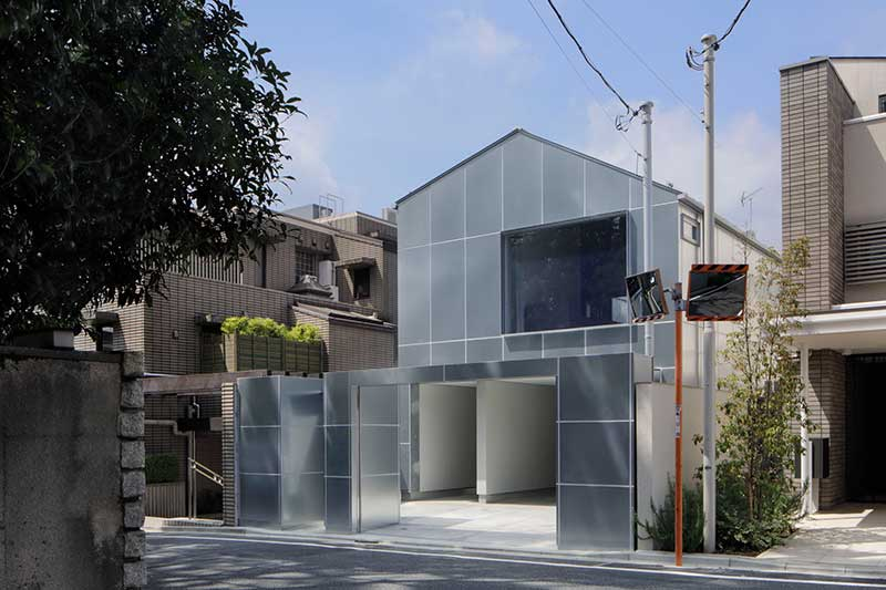 Duplex house made of galvanized steel panel