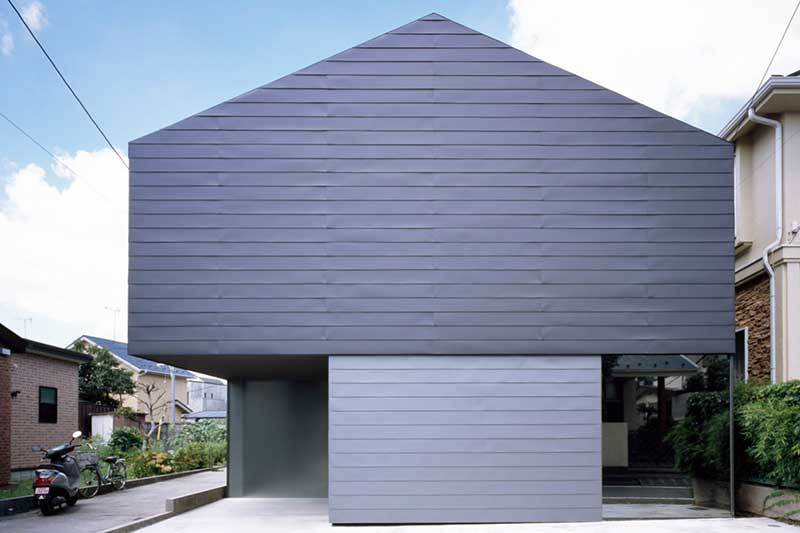 Houses with exterior walls made of aluminum panels