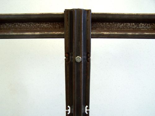 Welded Open Lyre Attachment To Line Post