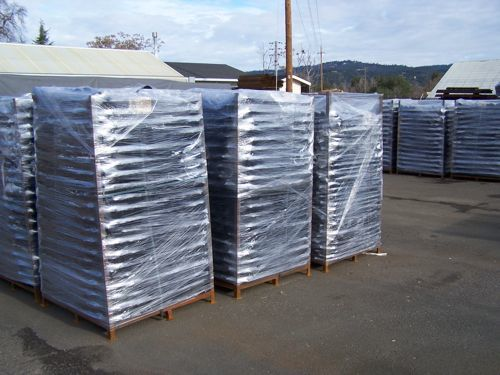 Earth Anchors Palletized For Delivery