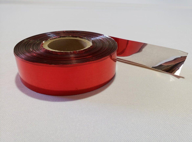 Reflective Bird Scare Tape, Red & Silver, 500? Per Roll