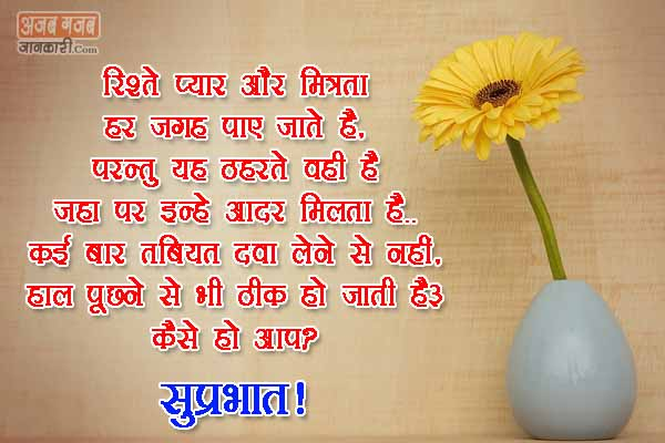 Sweet Good Morning Message in hindi font with images...