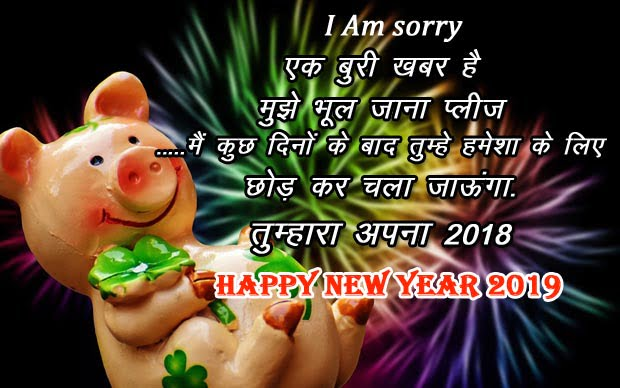 Happy new year 2019 shayari in hindi image funny