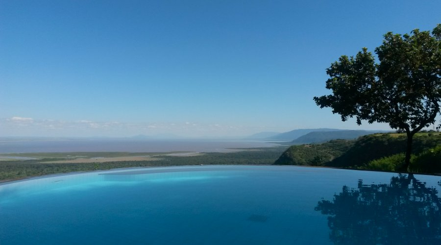 Pool with a view at Serena Safari Lodge Lake Manyara