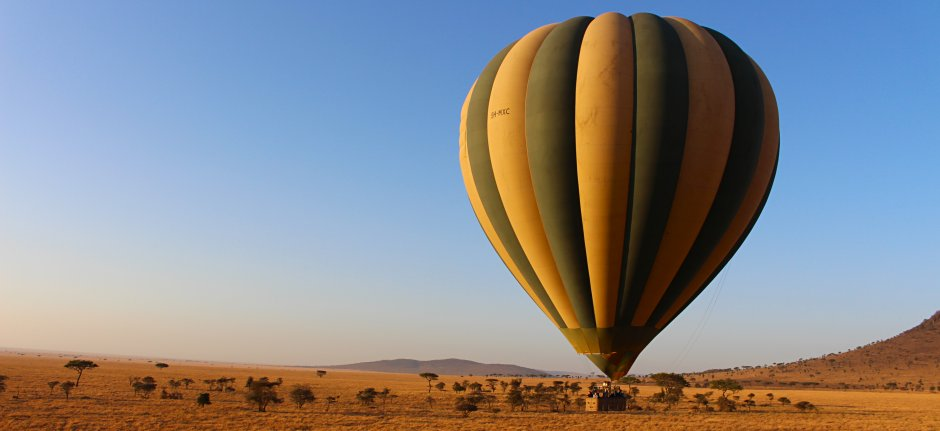 Float above the wilderness in a hot air balloon