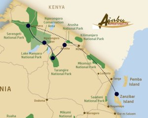 Route of the Low Season Special All Inclusive Luxury Safari 2018