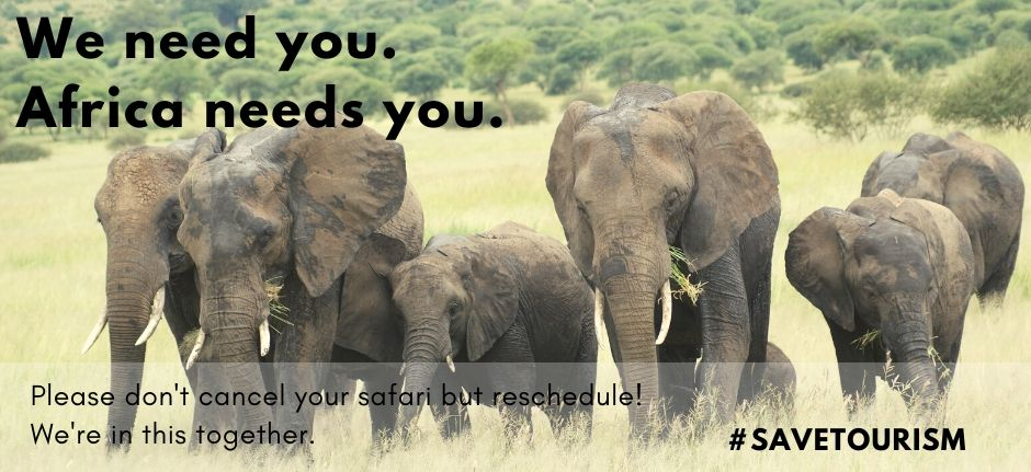 Africa needs you! Don't cancel but reschedule your safari to Tanzania!