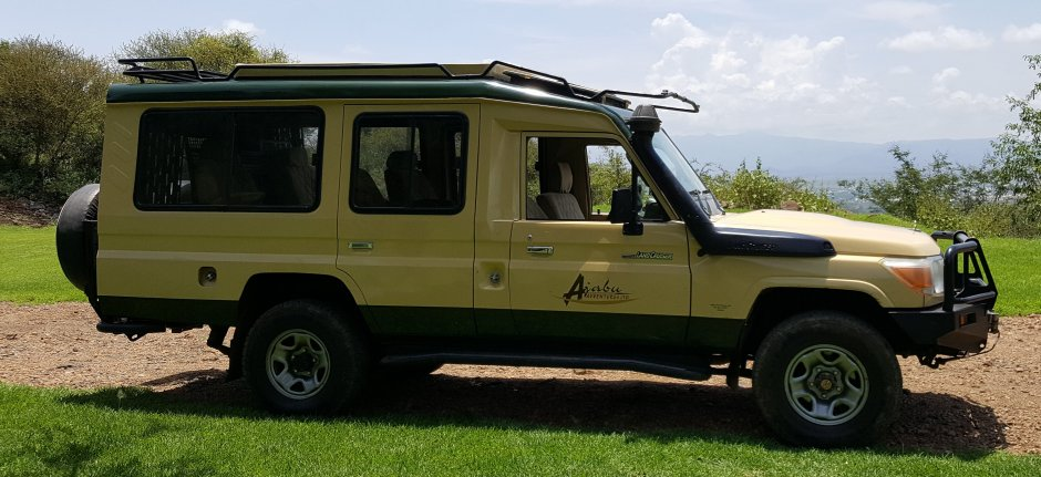 Ajabu Adventures special 4WD safari vehicle