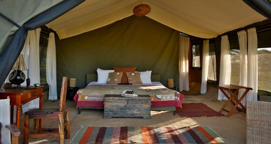 Luxe tent van Chaka Tented Camp in Serengeti National Park