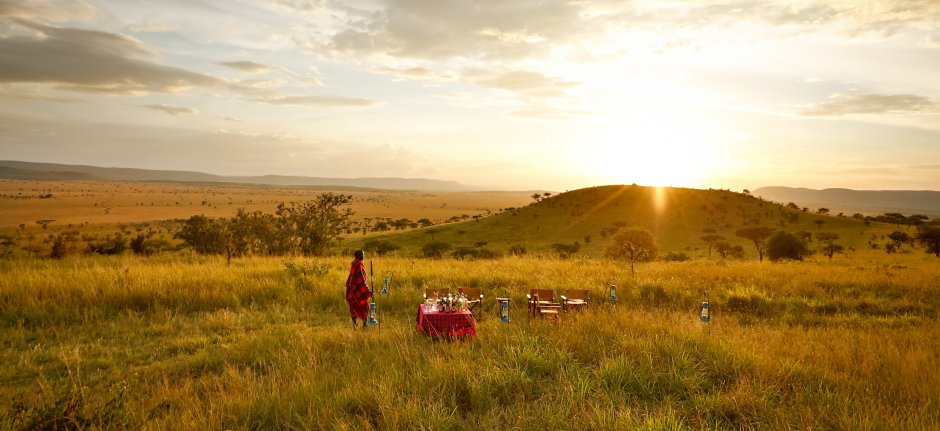 Bush breakfast in Serengeti National Park at Lemala Ewanjan