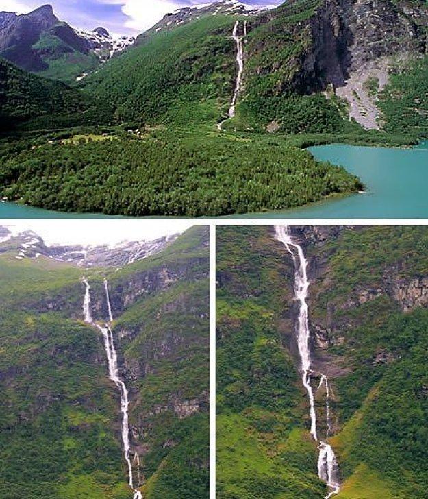 Ramnefjellsfossen, Norwegia
