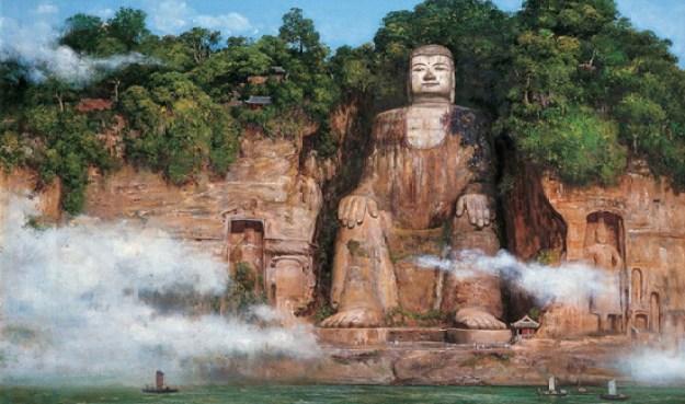Patung Buddha Raksasa, Sichua, China