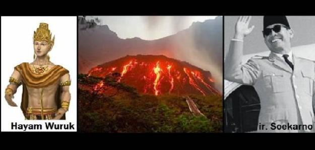 letusan Gunung Kelud melahirkan dua tokoh pemimpin Nusantara