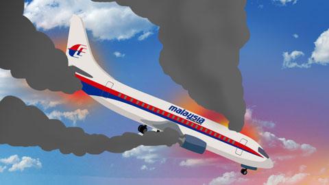 Pesawat Malaysia Airlines MH370 meledak atau terbakar?