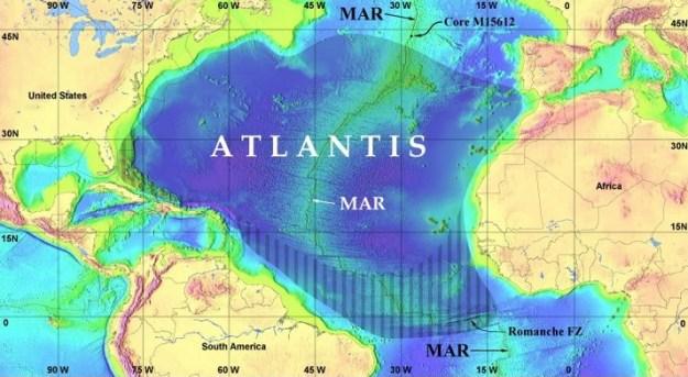 Peta Benua Atlantis
