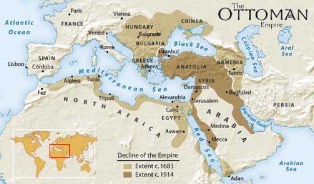 Gambar peta Kerajaan Turki Utsmani