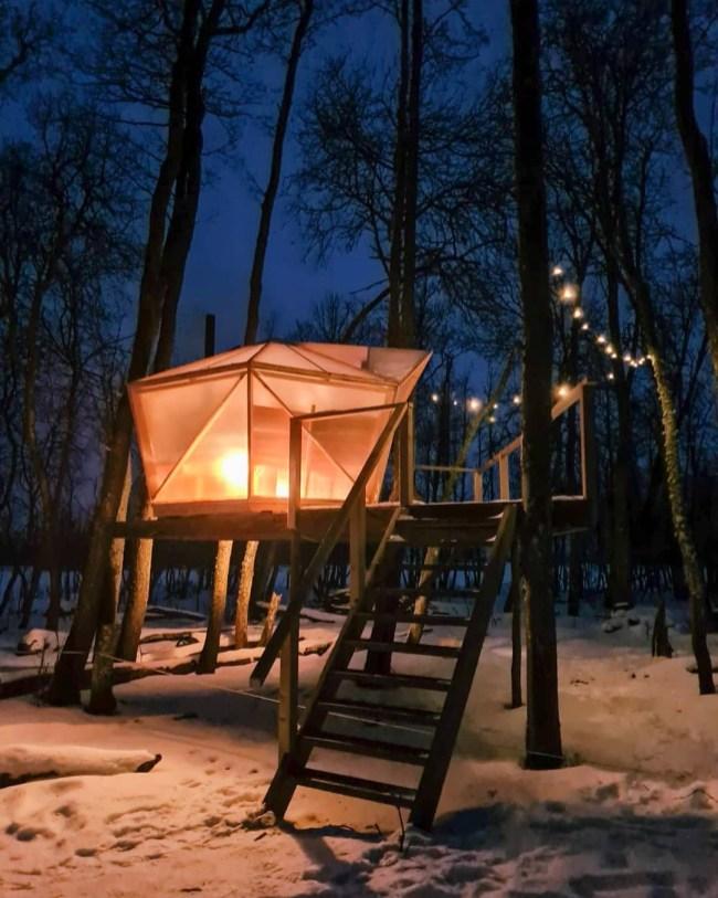 HEKSO Treehouses tavalisest veidi erilisem saunamaja