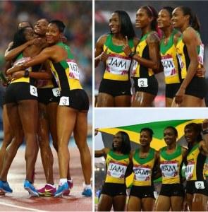 Jamaica win 4 X 100m