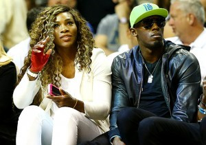 Tennis Star Serena-williams with Track and Field star Usain Bolt