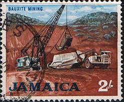 Jamaica Bauxite-Mining-Stamp